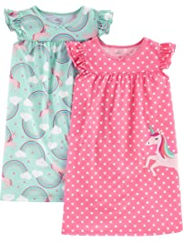 b58f704c0b Simple Joys by Carter s Little Kid Girls  2-Pack Nightgowns