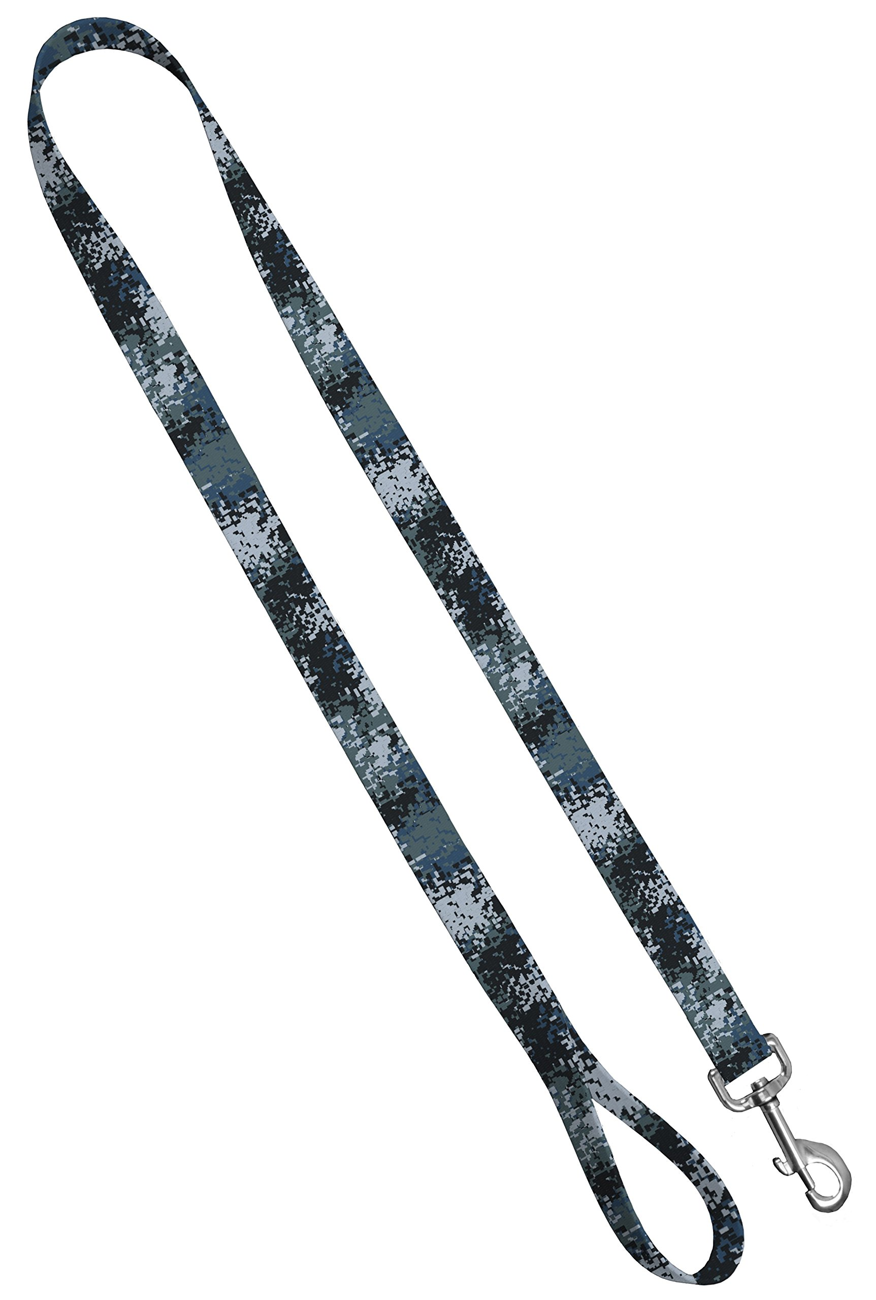Moose Pet Wear Camo Dog Leash - Camouflage Dog Lead Waterproof with Easy Grip Loop - 1 Inch x 4 Feet, Digi Camo Blue by Moose Pet Wear