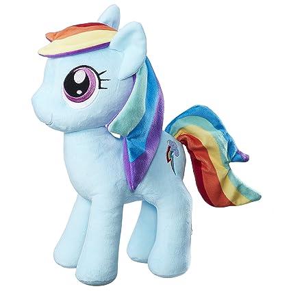 Amazon.com  My Little Pony Friendship is Magic Rainbow Dash Cuddly Plush   Toys   Games 33e39c0948d2