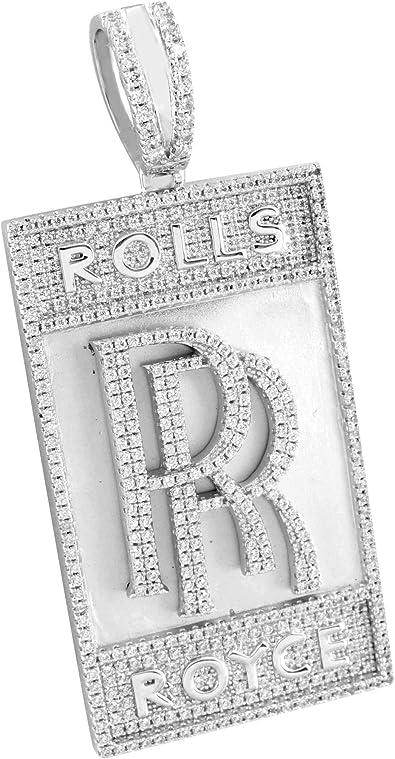Car Logo RR Anhänger Sterling 925 Silber Simulierte Diamonds