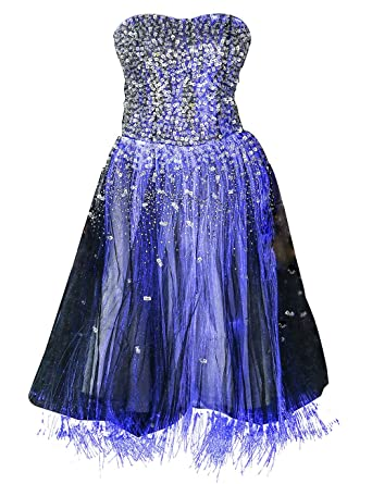 Greenspine Womens Sequins Prom Dresses Short Party Dresses Glow in The Dark at Amazon Womens Clothing store: