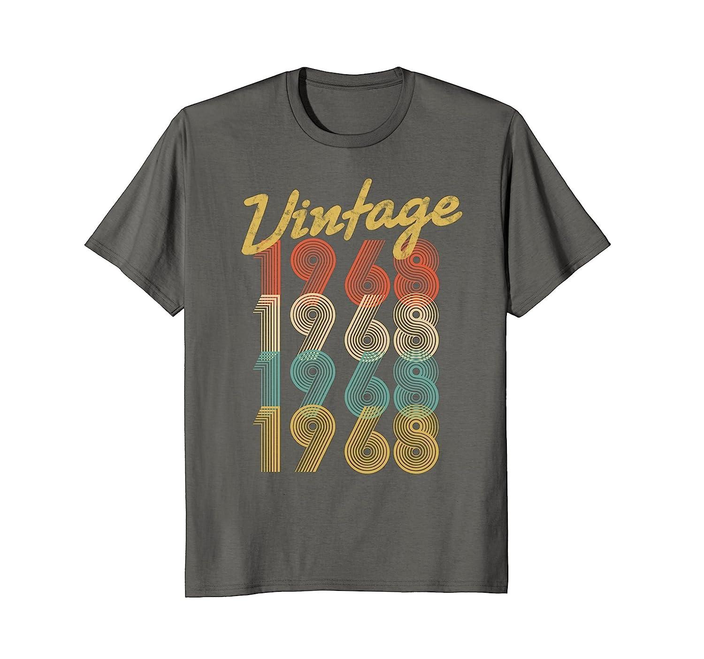 33c90071490e0c Vintage 1968 T-Shirt Retro Colors 50th Birthday Gift Shirt-alottee gift