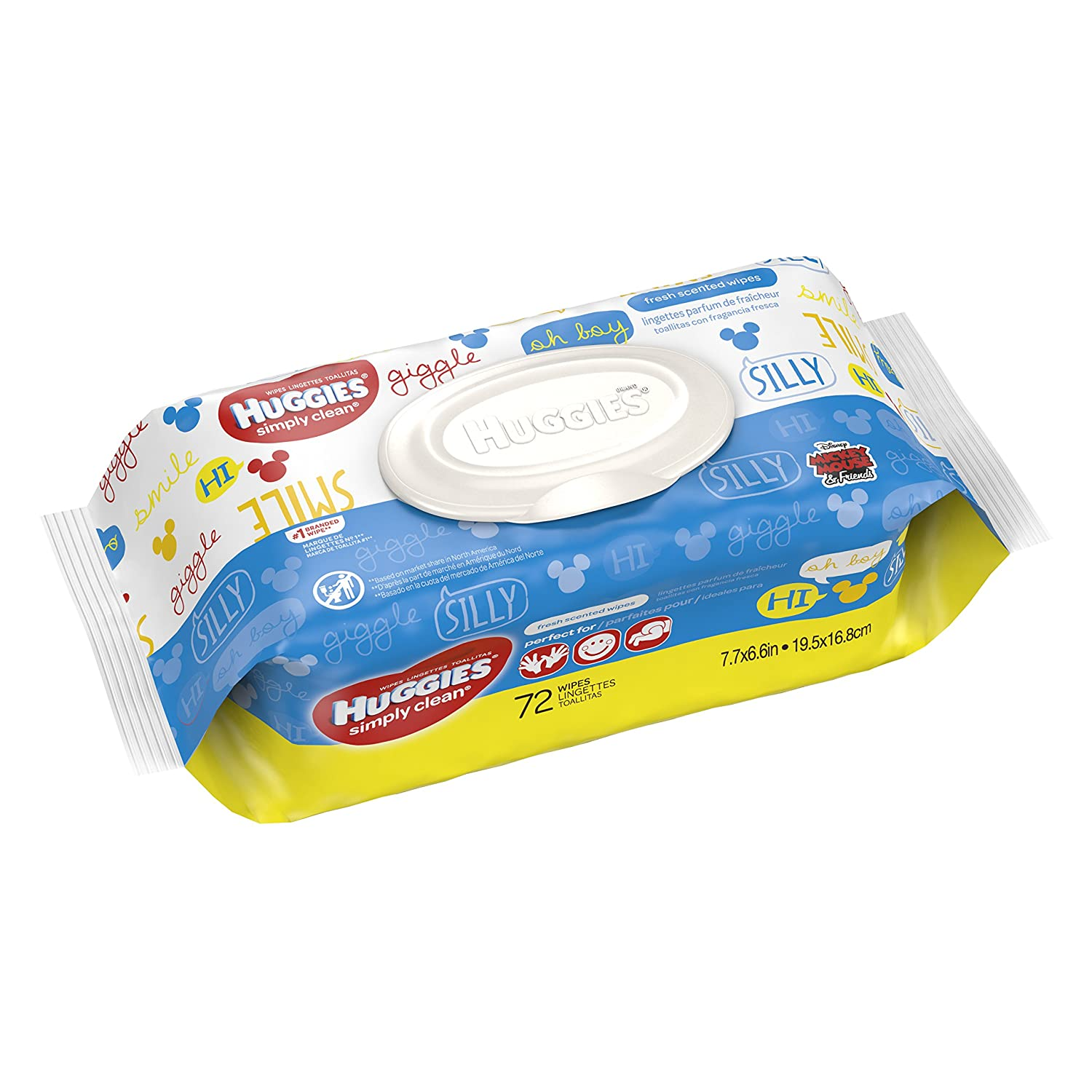Huggies Simply Clean Fresh Scented Baby Wipes, Soft Pack, 64 Count Kimberly Clark