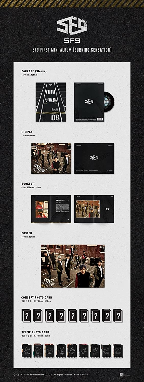SF9 - SF9 - [BURNING SENSATION] 1st Mini Album CD+PhotoBook+2p ...