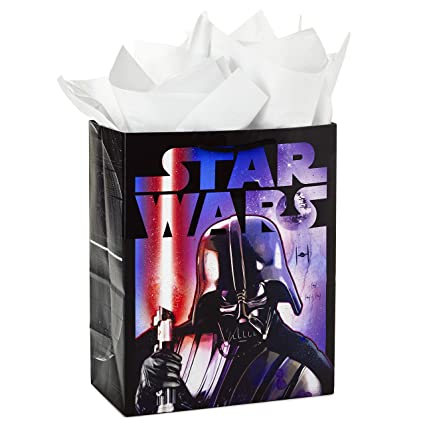 Amazon Hallmark Large Star Wars Gift Bag With Tissue Paper Darth Vader Kitchen Dining