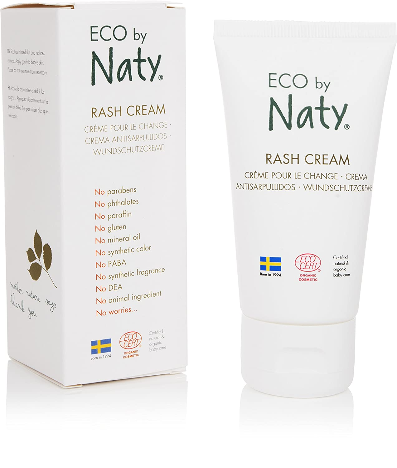 ECO by Naty Organic Baby Rash Cream, 1.7 Fl. Ounce NAUJA 07330933252614