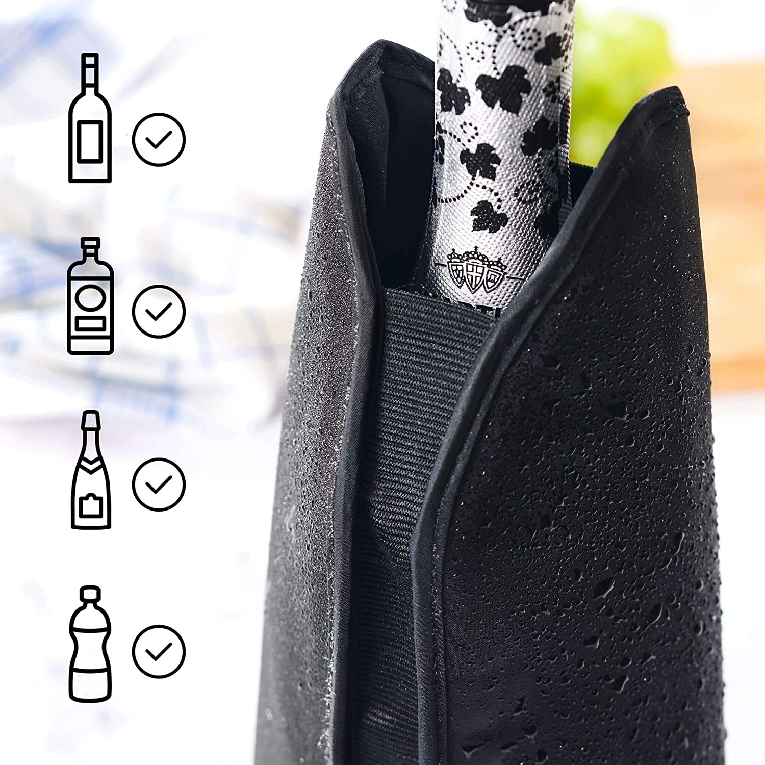 2 Pieces Beer and Water Bottles SILBERTHAL Cooler Sleeves Ice Jackets for Rapid Cooling of Wine Champagne