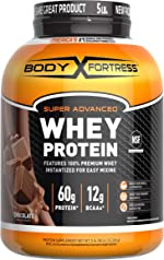 Body Fortress Super Advanced Whey Protein Powder(Gluten Free/Packaging May Vary), Chocolate,