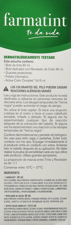 Farmatint Gel 7R Rubio Cobrizo   Color natural y duradero   Componentes vegetales y aceites naturales   Sin amoníaco   Sin parabenos   ...