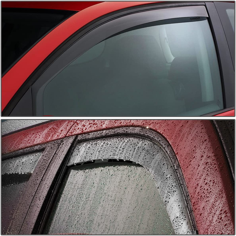 Replacement for Honda Element 4pcs Tape-On Window Visor Deflector Rain Guard