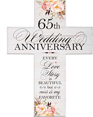 Amazon Com Lifesong Milestones Floral 65th Anniversary Pallet Cross 65 Years Of Marriage Sixty Five Year Wedding Keepsake Gift For Parents Husband Wife Him Her Boyfriend Girlfriend 14x19 Everything Else