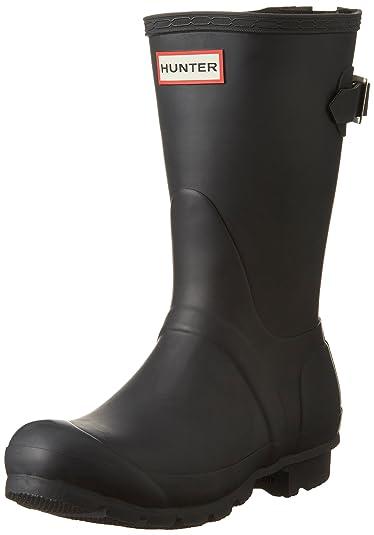 Hunter Women s Original Back Adjustable Short Black Boot 388c4fbf3a