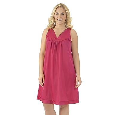 302bc66087 Exquisite Form Plus Size Women s Coloratura Short Gown 30807 at Amazon  Women s Clothing store