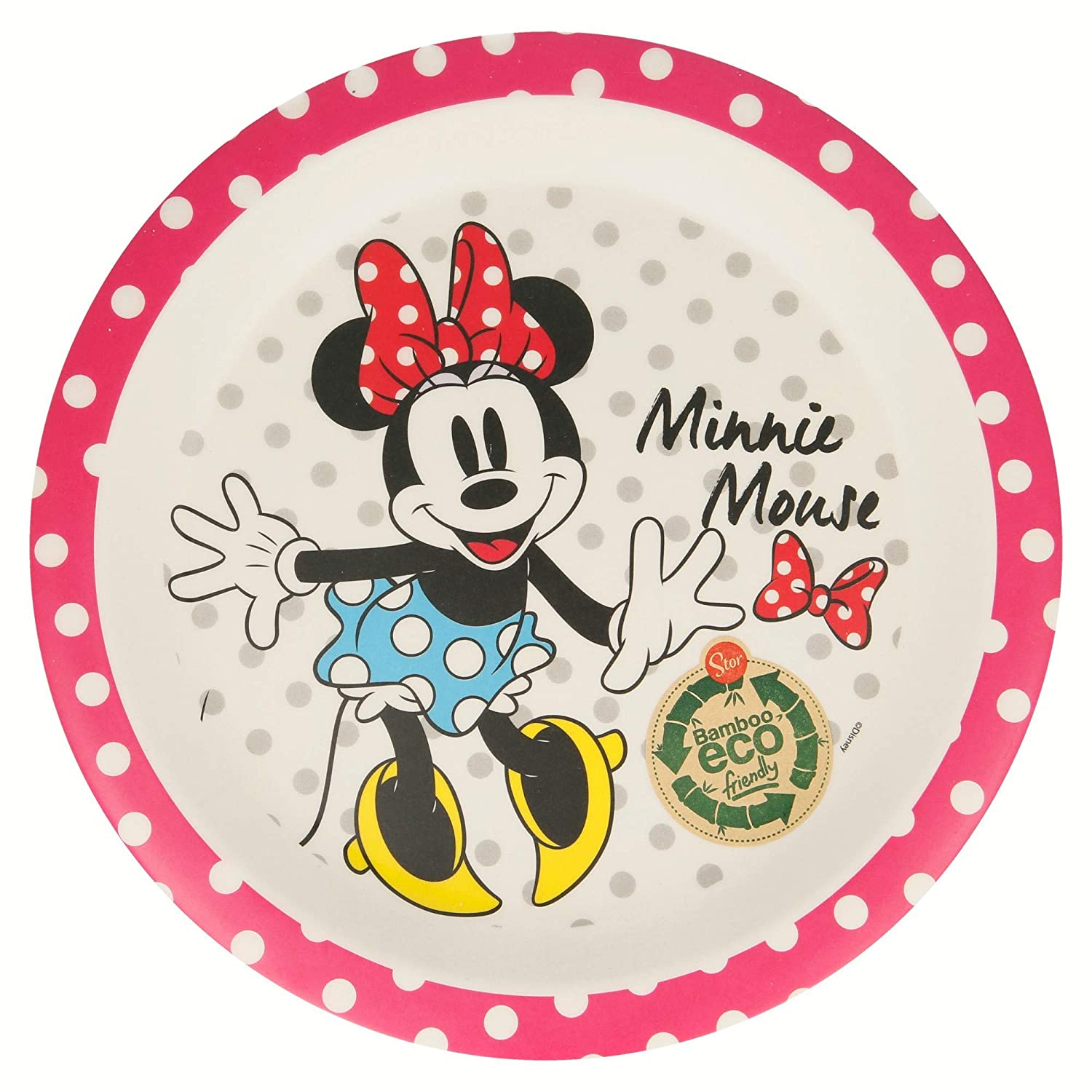 Elemed 1323 Eco-Friendly Bamboo Disney Divided Plate with Mickey Multicoloured