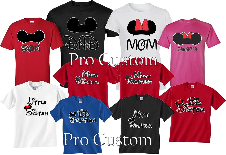 Amazon Mickey DAD Minnie Mom Disney FAMILY Vacation Matching Tshirts Clothing