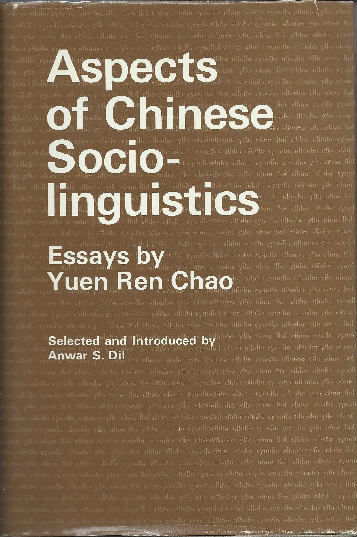 aspects of chinese sociolinguistics essays