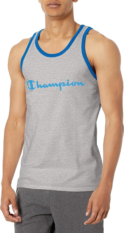 Champion Men's Classic Jersey Tank, Script Logo at  Men's Clothing store