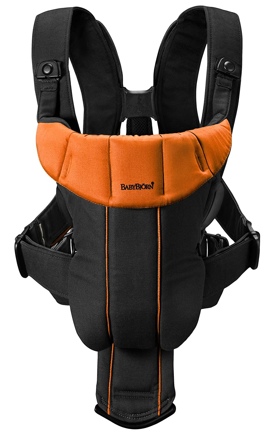 11d3de30841 Amazon.com   BABYBJORN Baby Carrier Active - Black Orange (Discontinued by  Manufacturer)   Child Carrier Front Packs   Baby