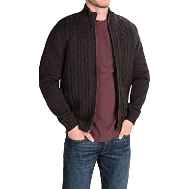 Boston Traders Men's Cable Knit Sweater with Sherpa Lining at ...