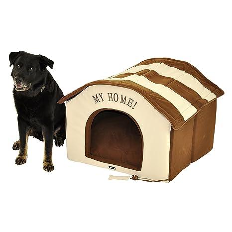 Nanook XXL para perros Perros Casa Gato Cueva Big House – 90 x 85 cm marrón
