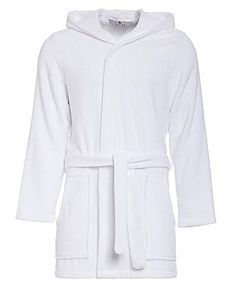 84b57d4f2f6c3 Peignoir de Bain pour Hommes - Court - RE-851 - avec Capuche - 100% Coton  éponge - Bonne qualité: Amazon.fr: Vêtements et accessoires