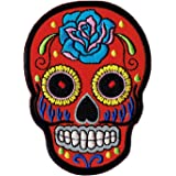 Mexican Sugar Skull Sew-On Badge/Iron-On Patch ca.