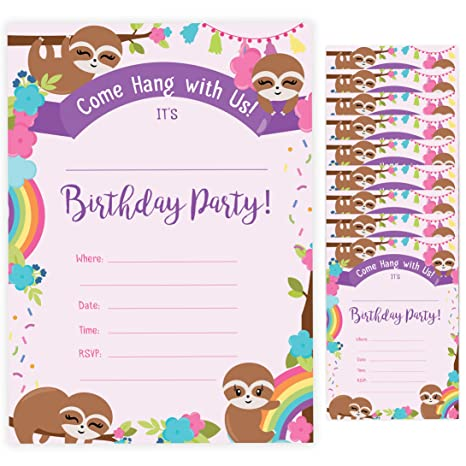 Amazon.com: Sloth Style 1 Tarjeta de invitación de ...