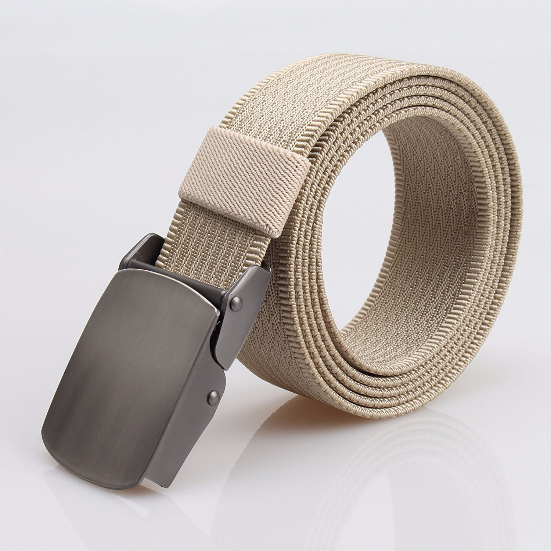 DVANIS Mens Military Tactical Web Belt Nylon Canvas Webbing Metal Buckle Belt