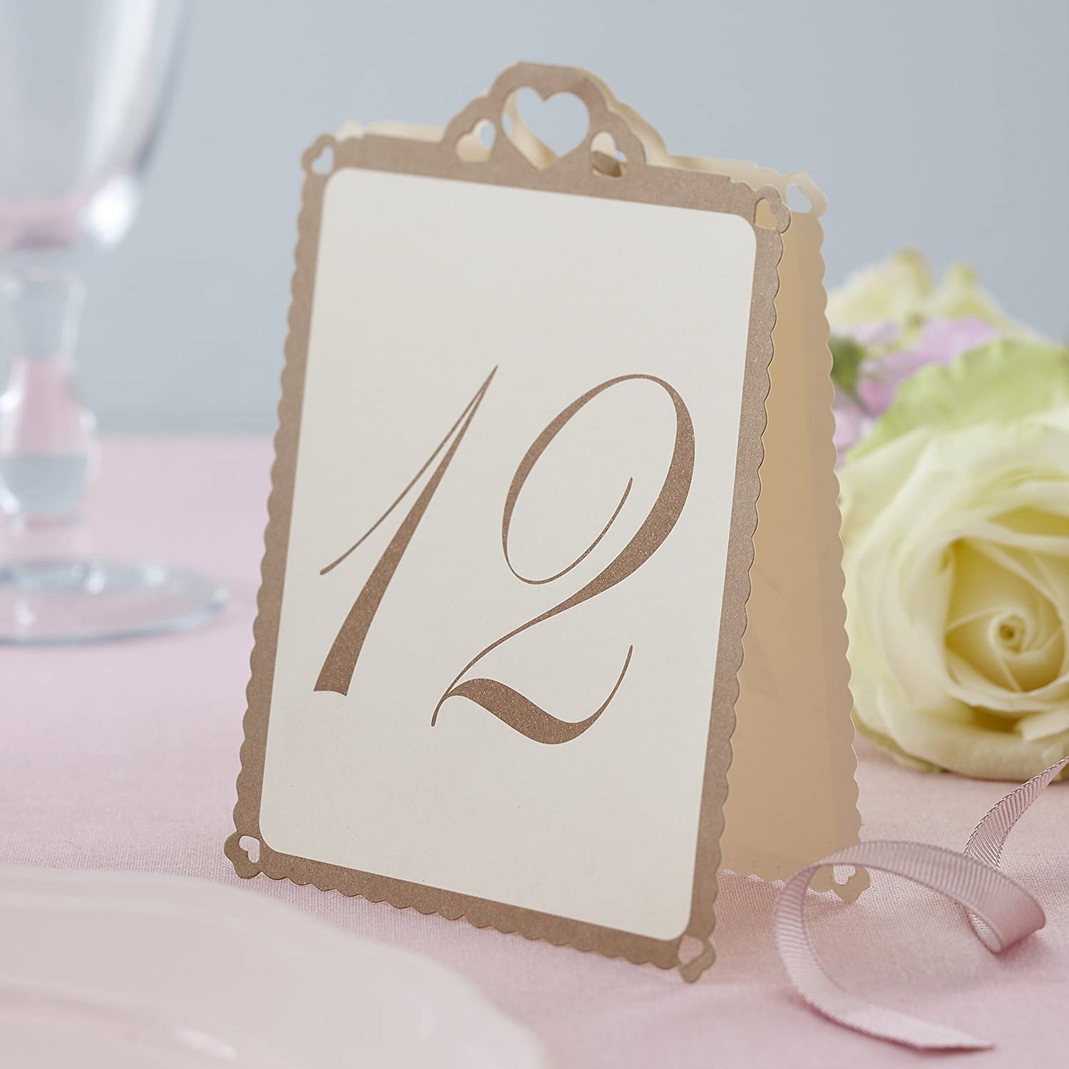 numbered table tent cards