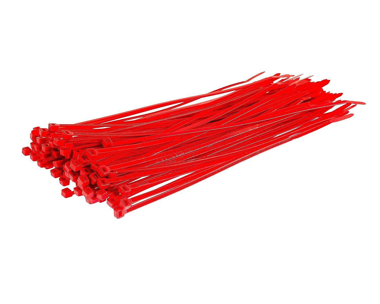 blanco 200 mm x 4,8 mm, nailon, resistentes, de alta calidad, 1000 unidades Bridas para cables Gocableties