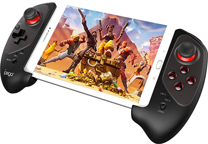 Wireless Android Gamepad, Megadream Mobile Gaming Controller Joystick for  PUBG Fotnite with 5-10in Telescopic Bracket Support Tablet, Smartphone
