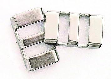 eddycam 0101 Clip de Acero Inoxidable, 12 mm de Plata ...