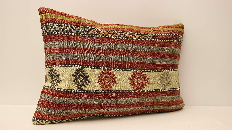 Bohemian Kilim Pillow Cushion Cover 16x24 Turkish Kilim Pillow Vintage Kilim Pillow Home Decor Handmade Pillow Tribal Couch Pillow