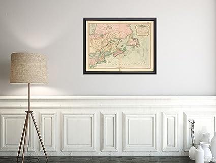 Amazon.com: 1794 Map North America|Canada|Northeastern ...