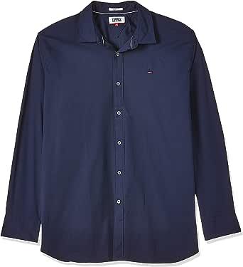 Tommy Jeans Original Stretch Camisa, Azul (Black Iris 002), XX-Large para Hombre