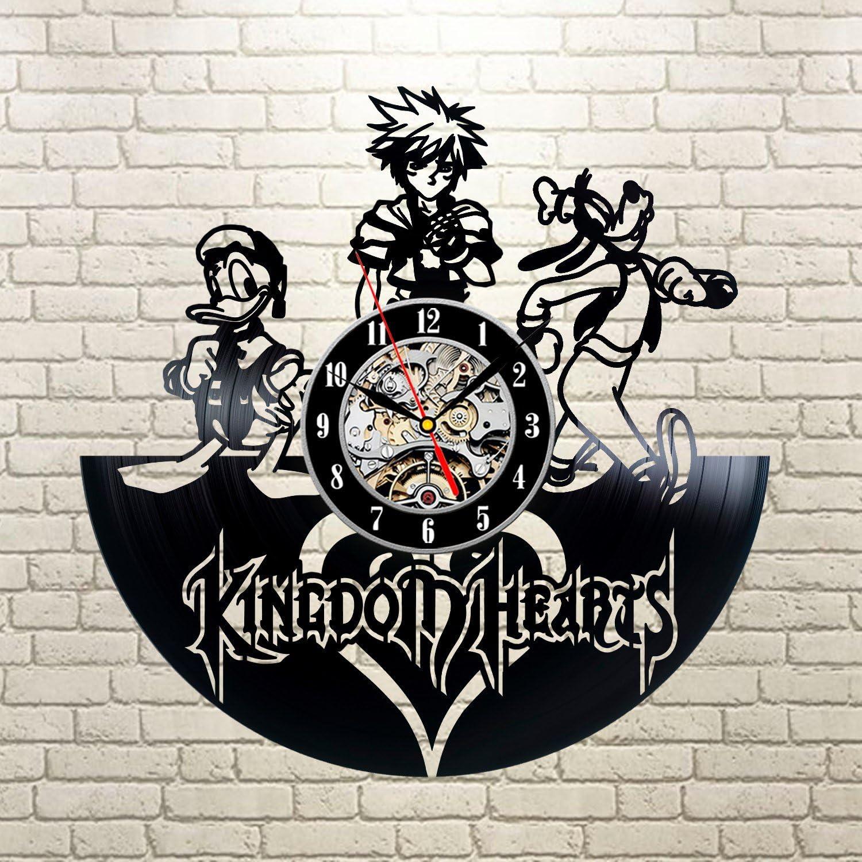 Kingdom Hearts Vinyl Record Clock Wall Art Home Decor