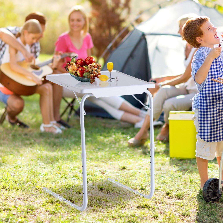 Campingtisch Beistellstisch Klapptisch Robust mit stabilem Stand f/ür mehr Komfort beim Camping Belastbarkeit 50 kg ca max