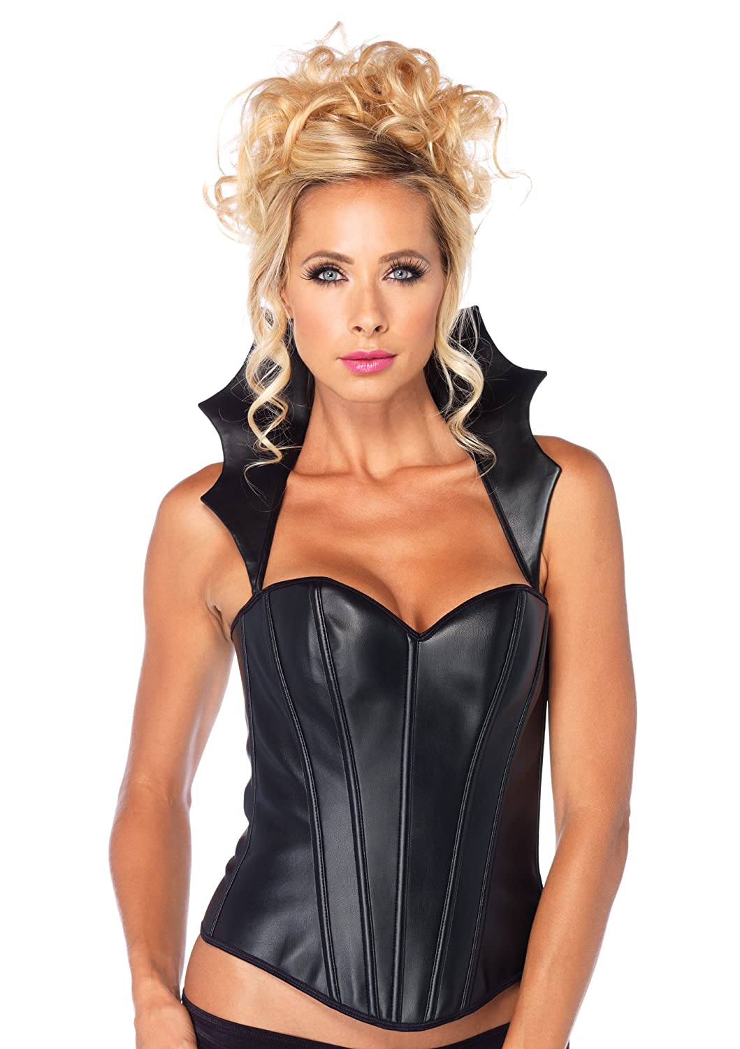 e249f7ec620 Leg avenue piece faux vamp corset with silhouette boning and removable  collar clothing jpg 1059x1500 Corset