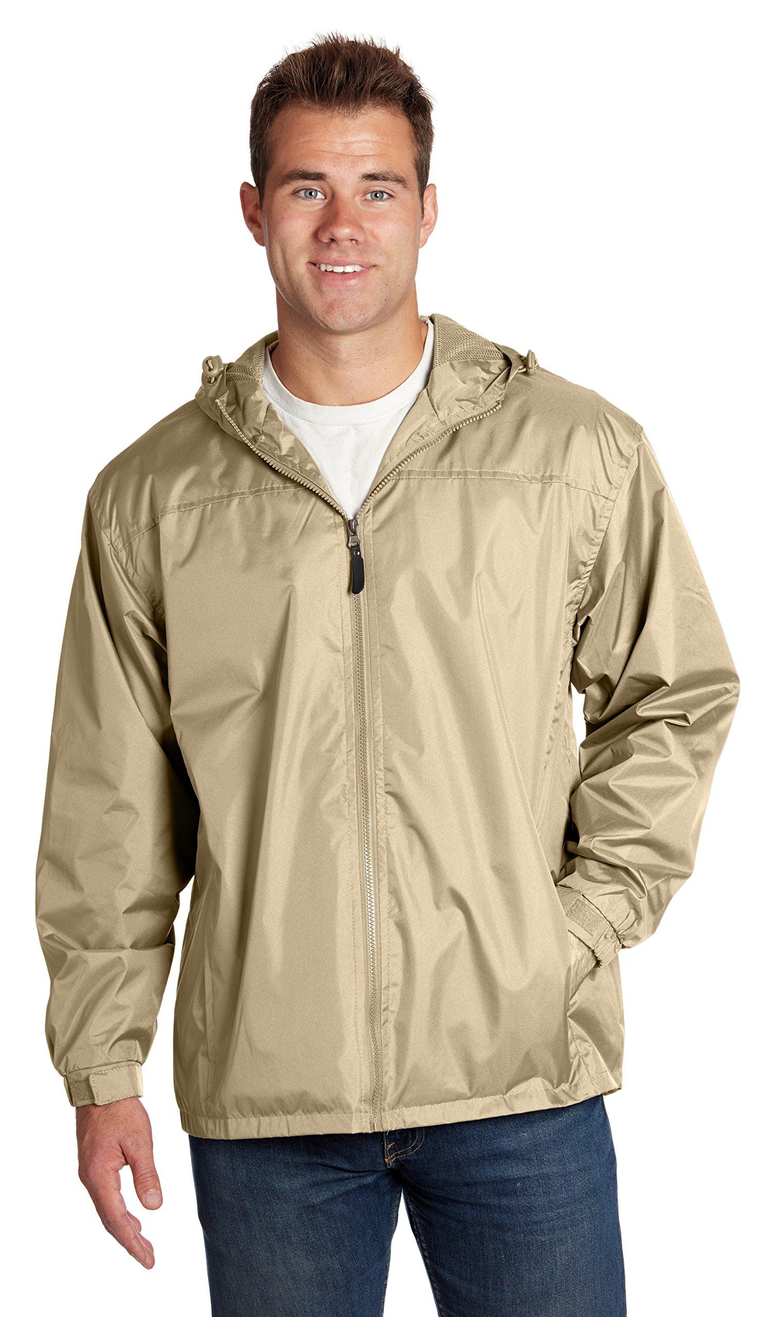 Equipment De Sport USA Men's Lined Hooded Wind Resistant/Water Repellent Windbreaker Jacket