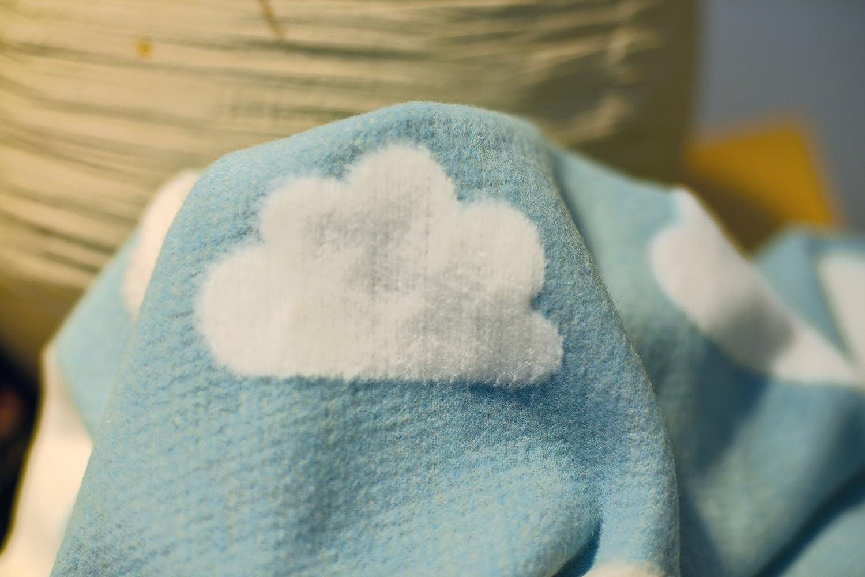 und Babydecke David Fussenegger 590957J3 Finn Kinder Wolken 100 x 130 cm