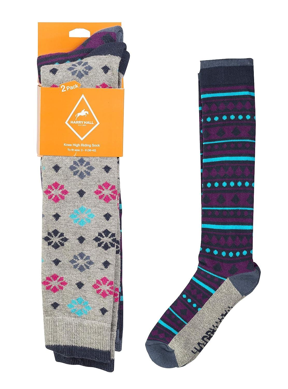 Harry Hall Women's HH5457-MU04-3 to 8 Riding Socks, Multi-Colour, Small Trilanco