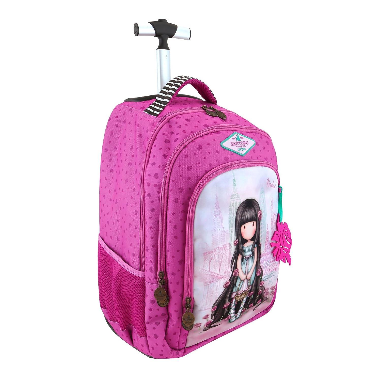 Mochila Escolar Trolley Gorjuss - Rosebud: Amazon.es: Oficina y papelería