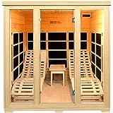 Infrarotkabine/Wärmekabine Billund Flächenstrahler & Hemlockholz   Infrarotsauna mit 2 Relaxliegen für 2 Personen   ArtSauna