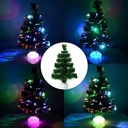 takefuns small christmas desk tree 18 tabletop pre lit christmas tree battery operated