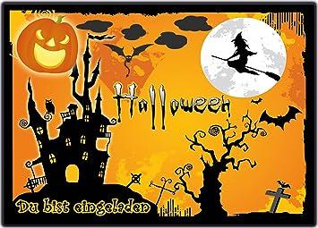 Grusel Einladungskarten Zu Halloween 12 Er Set Gruselige Halloweenparty Einladungen  Kindergeburtstag Zum Geburtstag, Party