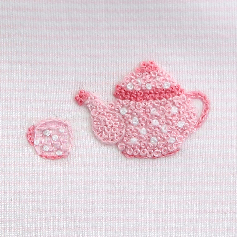 Magnolia Baby Baby Girl Tiny Cup of Tea Emb Ruffle Converter Pink