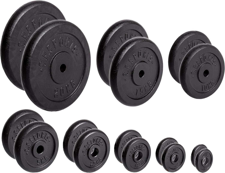 per Bodybuilding 30//31 mm C.P in plastica Sports 57 kg e 114 kg Bumper Plates Set di Dischi per Manubrio