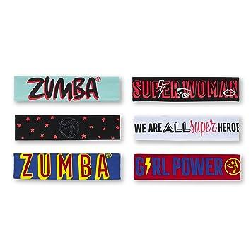 Zumba power reversible headbands 3 pk