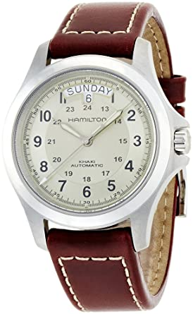 458504049d3 Image Unavailable. Image not available for. Color  Hamilton Khaki Field  King Automatic Beige Dial Mens Watch H64455523