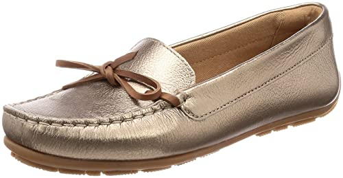 d37d8c568a49 Clarks Women s Dameo Swing Pewter Metallic Leather Loafers-3.5 UK India (36  EU